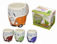 Campervan Surf Bus Coffee Mug Tea Cup New Boxed Christmas present under £10